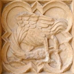 Cathédrale de Lyon - Médaillon du portal Nord, côté Nord